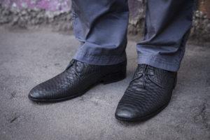 IMG 2603 300x200 Мужские туфли из натуральной кожи питона