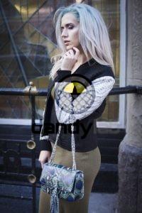 IMG 4511 200x300 Сумочка в стиле «Chanel» из кожи питона