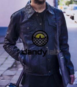 IMG 4559 e1485337996291 266x300 Мужская куртка из питона черная