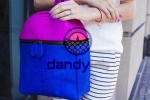IMG 4609 300x200 Розово синий рюкзак из кожи питона