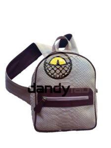 IMG 8625 225x300 Стильный рюкзак из натуральной кожи питона
