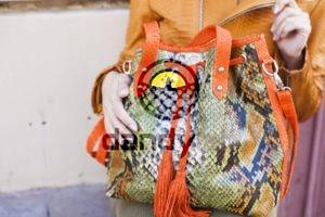 IMG 4394 300x200 Разноцветная сумка из питона