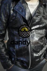 Dandylab piton012 200x300 Мужская куртка косуха из кожи питона