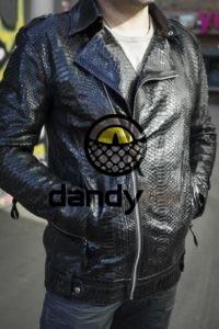 Dandylab piton013 200x300 Мужская куртка косуха из кожи питона