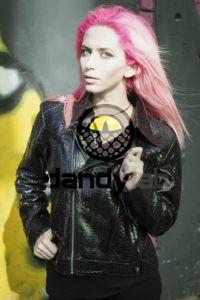 Dandylab piton016 200x300 Женская куртка косуха из натуральной кожи питона