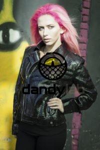 Dandylab piton020 200x300 Женская куртка косуха из натуральной кожи питона