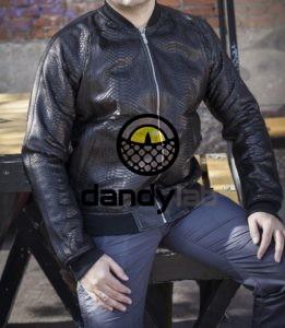 Dandylab piton054 e1485336719735 261x300 Мужская куртка из кожи питона