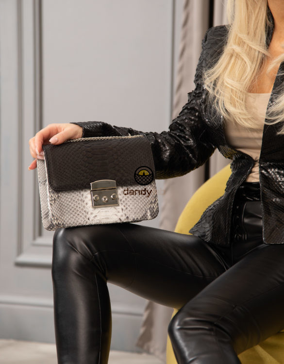 Women's bags made of crocodile and python leather