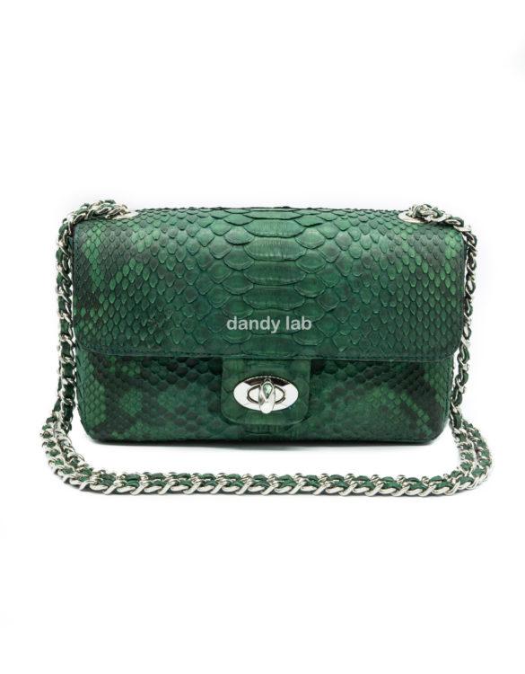 Bag made of genuine python leather