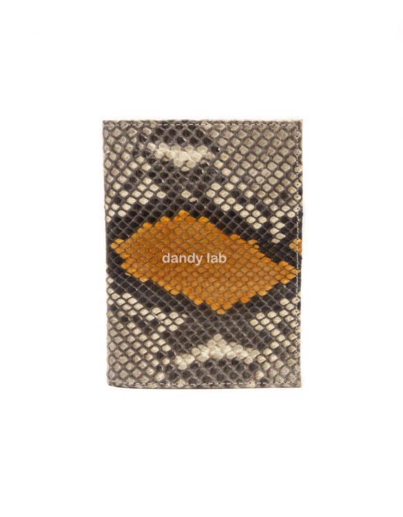 Cover for documents made of python skin.