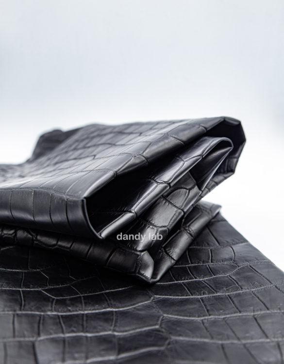 black crocodile skin