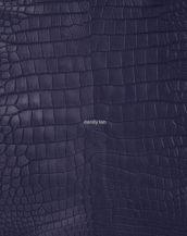натуральная кожа крокодила цвет синий
