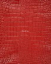 кожа крокодила красная