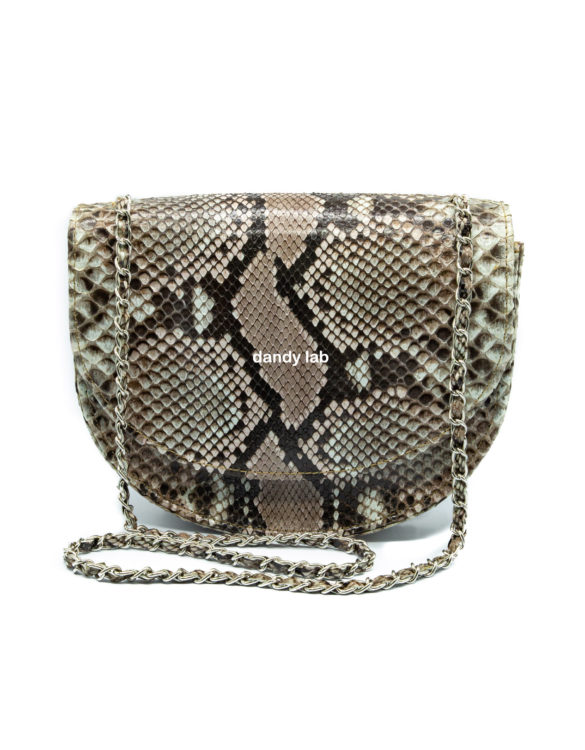 python leather bag