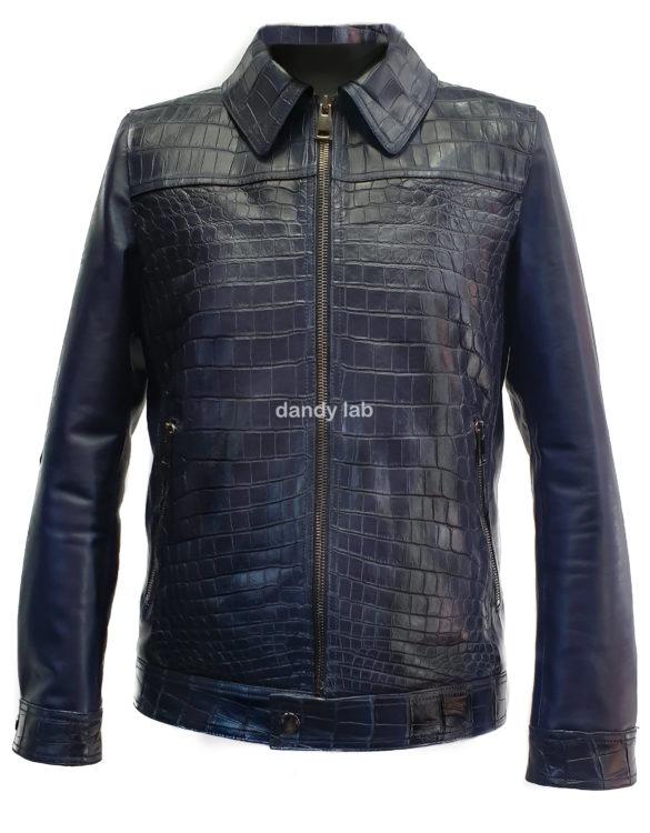 crocodile leather jacket