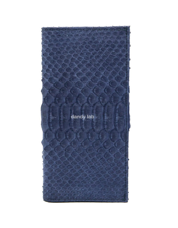 python leather wallet blue